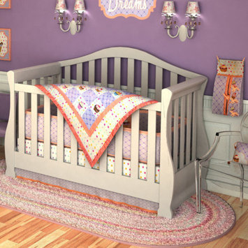 Divina DK Leigh Sweet Dreams 10 Piece Boutique Cupcake Crib Bedding Set