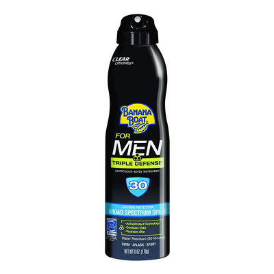 Banana Boat Triple Defense Sunscreen Spray For Men With SPF 30
