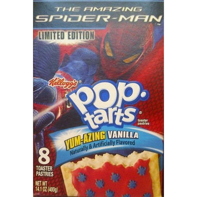 The Amazing Spider Man Yum Azing Vanilla Kellogg's Pop-Tarts - Limed Edition - The Amazing Spider-Man Yum-Azing Vanilla