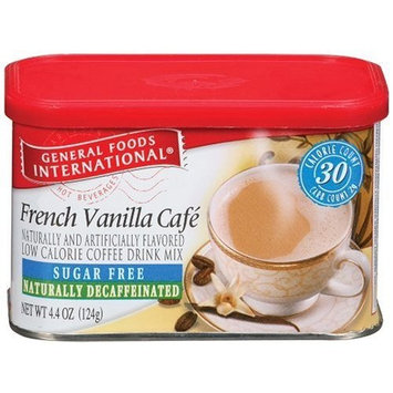General Foods International Coffee General Foods International Sugar Free Naturally Decaffeinated French Vanilla Cafe Coffee Drink Mix, 4.4-Ounce Tins (Pack of 6)