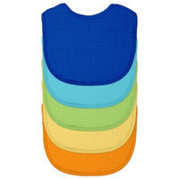 green sprouts by i play. 5-Pack Organic Cotton Muslin Boy Bibs