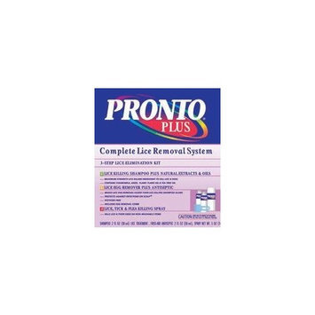 Pronto Plus Complete Lice Removal System, 3-Step Elimination Kit