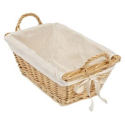 Burt's Bees Baby Rattan Storage Basket with Cotton Liner 13.25
