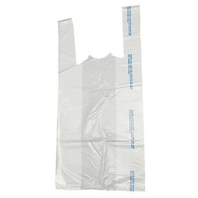 Value Brand 3CUE3 TShirt Bags, White,211/2 In. L,PK 1000