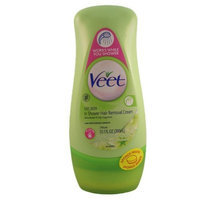 Veet In-Shower Hair Remover Cream for Dry Skin with Shea Butter-Lily Fragrance-10.1 oz