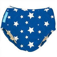 Charlie Banana Best Extraordinary Reusable Training Pants (Large, White Stars on Blue) 889982