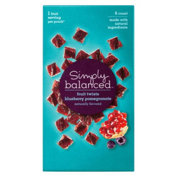 Simply Balanced Blueberry Pomegranate Fruit Twists 5.1 oz
