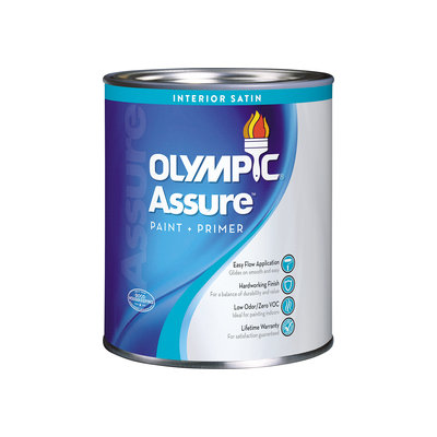 Olympic Icon Interior Satin Tintable White Latex-Base Paint and Primer in One (Actual Net Contents: 29-fl oz) 74803A04