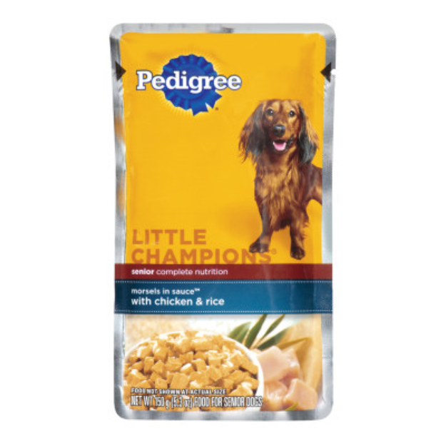 Pedigree® Little Champions Morsels in Sauce With Chicken and Rice for Senior Dog
