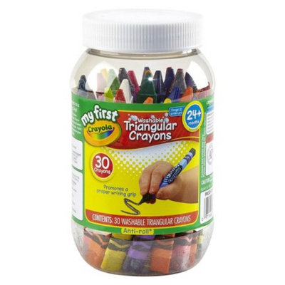 My First Crayola Triangular Crayons In Storage Container