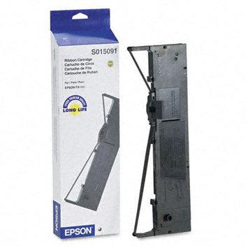 Epson EPSS015091 S015091 Printer Ribbon, Nylon, Black