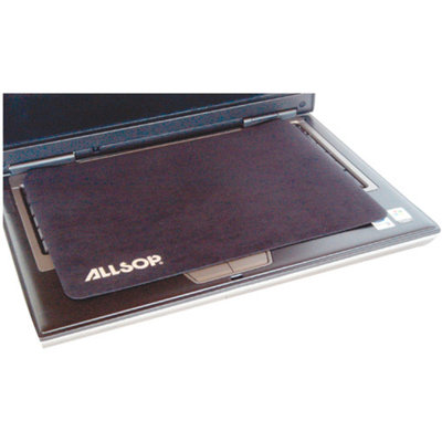 Allsop 29592 Travel Notebook Optical Mouse Pad- Nonskid Back- 13 x 9- Black
