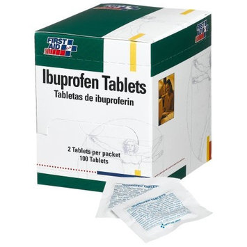 First Aid Only Ibuprofen Tablets, 50 2-packs, 100-Count Boxes (Pack of 3)