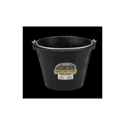 Miller Mfg Inc Miller Rubber All Purpose Pail Black 10 Quart - DF10