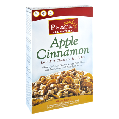 Peace Cereal All Natural Apple Cinnamon Low Fat Clusters & Flakes