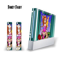 MightySkins Nintendo Wii Skin - System Console Skin and two Wii Remote Skins - Funky Fairy