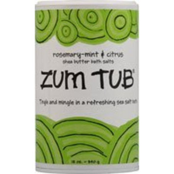 Indigo Wild Zum Tub Bath Salts, Rosemary-Mint and Citrus, 12 Ounce