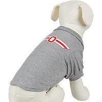Hunter The Ohio State Buckeyes College Pet T-Shirt, Large, Color: Gray