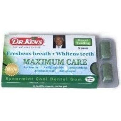 Dr. Ken's Maximum Care Dental Gum, Spearmint Cool