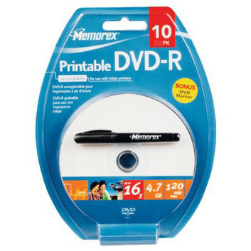 Memorex Printable 10-pk. DVD-R