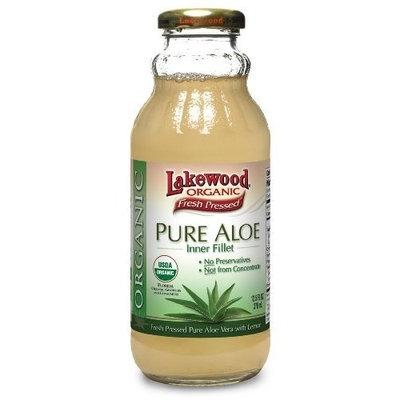 Lakewood Organic PURE Aloe Inner Fillet Juice, 12.5-Ounce Bottles (Pack of 12)