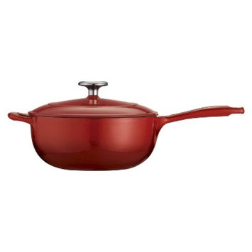 Tramontina 3 Quart Cast Iron Saucier - Red