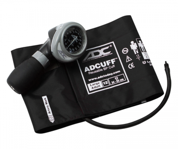 ADC Palm Style Aneroid Sphygmomanometer 703, Large Adult, Black