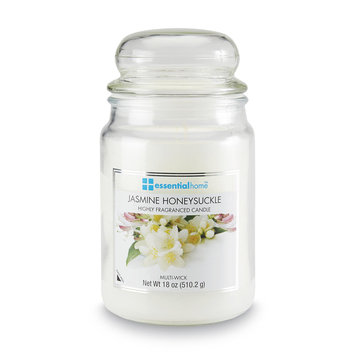 Essential Home 18 Ounce Jar Candle Jasmine Honeysuckle - LANGLEY PRODUCTS L.L.C.