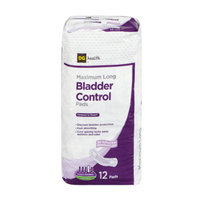 DG Health Bladder Control Pads - Maximum Long - 12 ct
