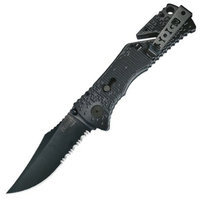 SOG Specialty Knives & Tools TF-1 Trident Knife-1/2 Serrated Blade