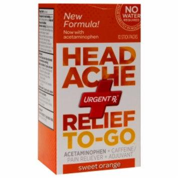 Urgentrx UrgentRx Headache Relief To-Go, Sweet Orange, 10 ea