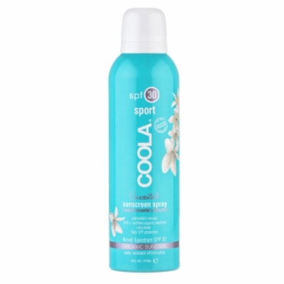 COOLA Sport Continuous Spray SPF 30, Unscented, 6 fl oz