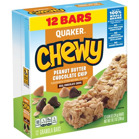 Quaker Chewy Granola Bars Peanut Butter Chocolate Chip