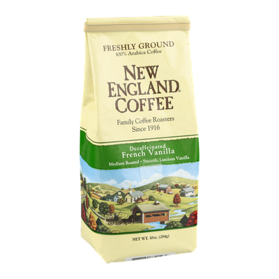 New England Coffee Decaffeinated French Vanilla Medium Roasted Freshly Ground