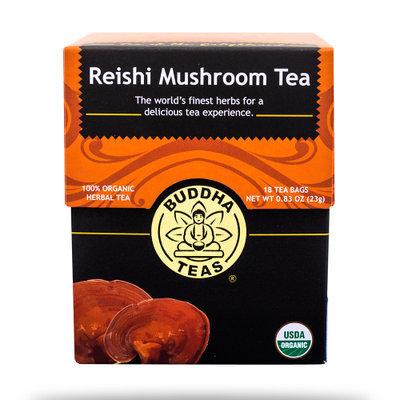 Buddha Teas Reishi Mushroom 100 Percent Organic Herbal Tea 18 Bags Per Packet