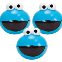 Evriholder Products (Set of 3) Sesame Street Cookie Monster Snack To Go Spheres - Easy To Open