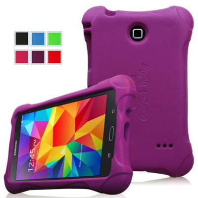 Fintie Kiddie Case - Ultra Light Weight Shock Proof Kids Friendly Cover for Samsung Tab 4 8-Inch Tablet, Purple