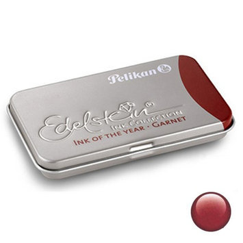 Pk/6 Pelikan Edelstein Fountain Pen Ink Cartridges, Garnet Red