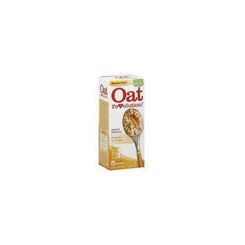 Oat Revolution! Instant Oatmeal - Peaches & Cream - 5 Pouches Per 6.15-oz. Box (Pack of 3 Boxes)