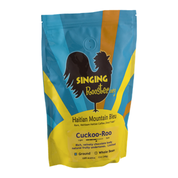 Singing Rooster Haitian Mountain Bleu Cuckoo-Roo Ground Coffee