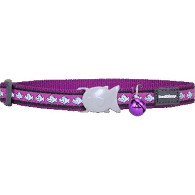 Red Dingo CC-RF-PU-SM Cat Collar Reflective Purple