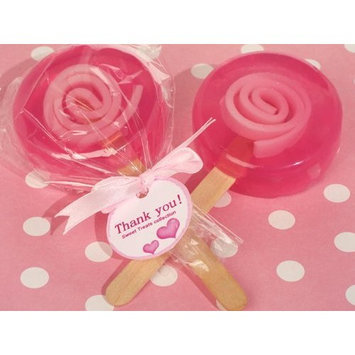 Cassiani 96PC CC6050 Sweet Treats Pink Lollipop Soap Favor Wedding Favors & Accessories