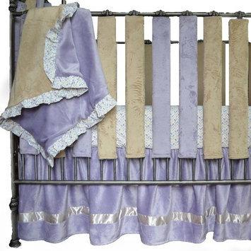 Go Mama Go Luxurious Minky Blanket - Lavender/Latte