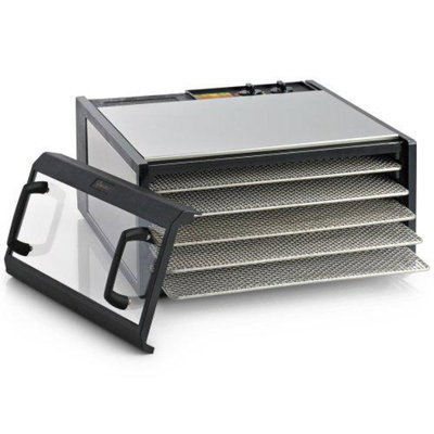 Excalibur Dehydrator Stainless Steel Clear Door 5-Tray/SS-Trays + Excalibur Dehy