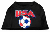Ahi USA Soccer Screen Print Shirt Black 4x (22)