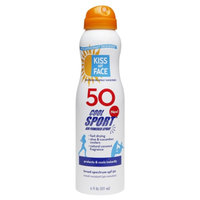 Kiss My Face Continuous Spray Sunscreen Cool Sport SPF 50 Coconut