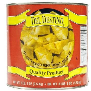 Del Destino Artichoke Heats - Quartered, 90-100 Count - 1 can - 3.4 lbs