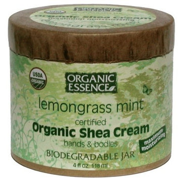 Organic Essence Organic Shea Cream Lemongrass Mint - 4 Oz, 2 Pack