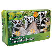 Uncle Milton National Geographic Wild Panorama 3-in-1 Puzzles 172 Pieces Ring-tailed Lemurs Edition (u16454)