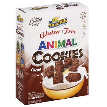 Sam Mills Gluten Free Cocoa Animal Cookies, 8 oz, (Pack of 7)